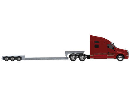 transport of goods: isolated car carrier truck over white