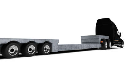 car carrier: isolated car carrier truck over white