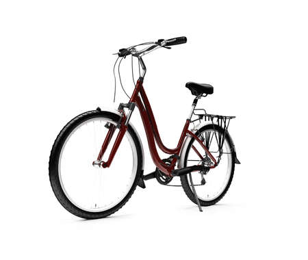 isolated bicycle on white background