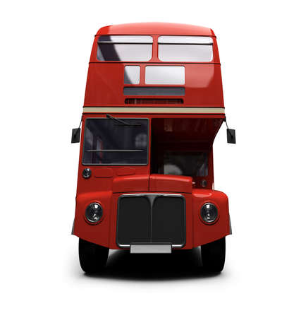 autobus: isolated red autobus on white background