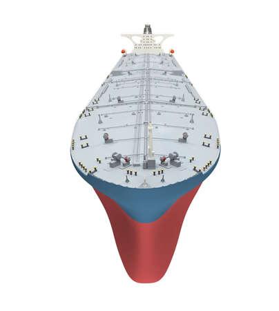 isolated big ship on white  photo