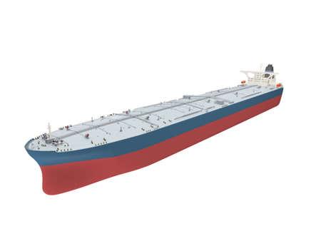 sea freight: isolated big ship on white  Stock Photo