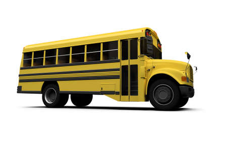 autobus: isolated school bus on white