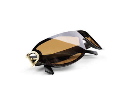 isolated sunglasses over white Stock Photo