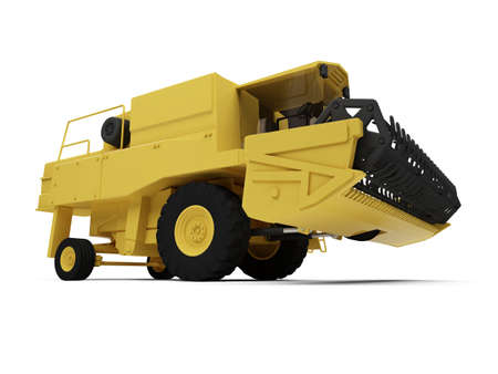agronomics: isolated combine harvester on a white background Stock Photo