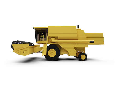 isolated combine harvester on a white background photo