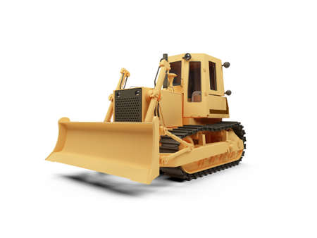 isolated earth moving machine on a white background photo