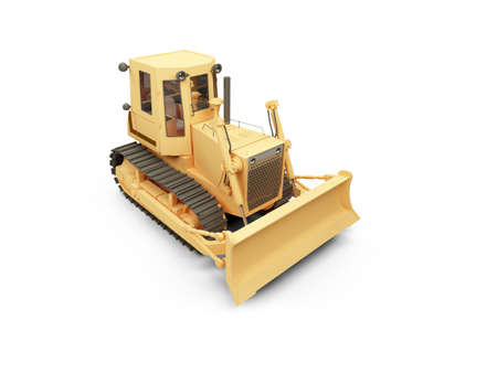 earth moving: isolated earth moving machine on a white background Stock Photo