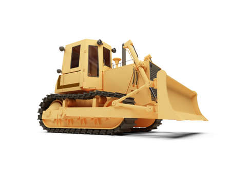 earthmoving: isolated earth moving machine on a white background Stock Photo
