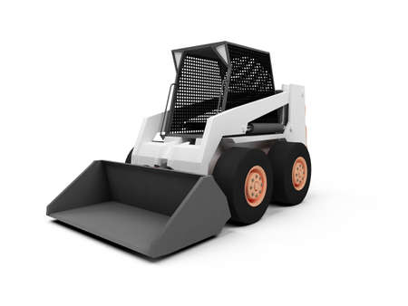 isolated skid steer loader on a white background photo