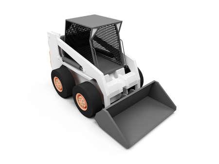 skid steer: isolated skid steer loader on a white background