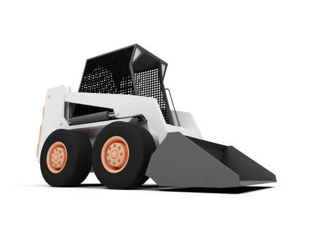 isolated skid steer loader on a white background