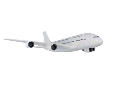 jetliner: isolated big airplane on a white background Stock Photo