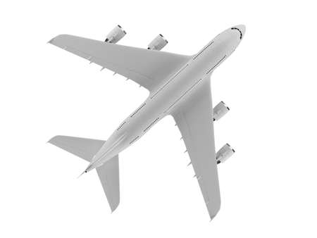 isolated big airplane on a white background Imagens