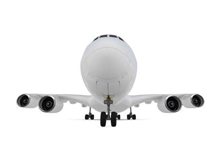 isolated big airplane on a white background Stock Photo