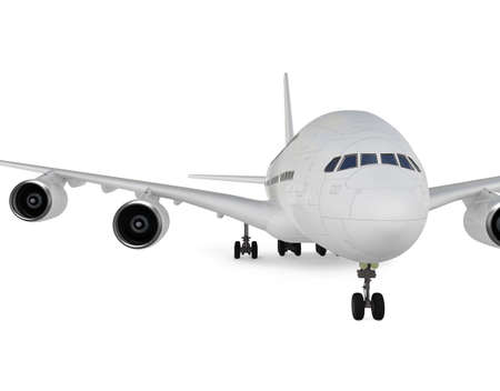boeing: isolated big airplane on a white background Stock Photo