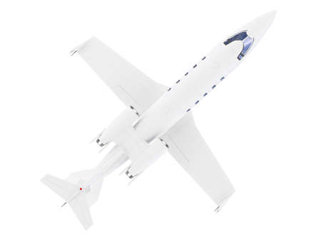 airborne vehicle: isolated jet airplane on a white background