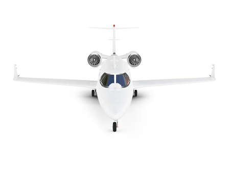 private jet: isolated jet airplane on a white background
