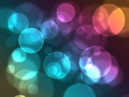 abstract glowing circles on a colorful background Imagens
