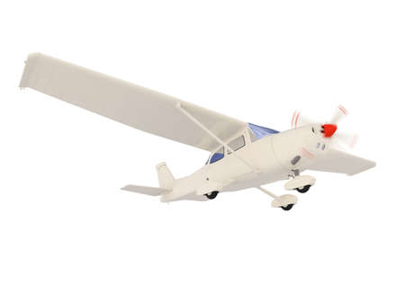 jetliner: isolated small airplane over white background