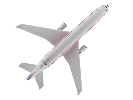 jetliner: isolated airplane over white background