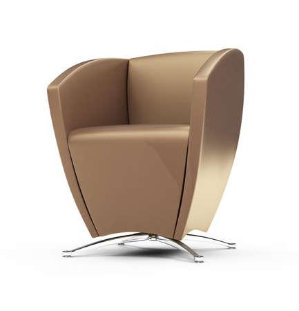 backgorund: isolated modern chair against white backgorund