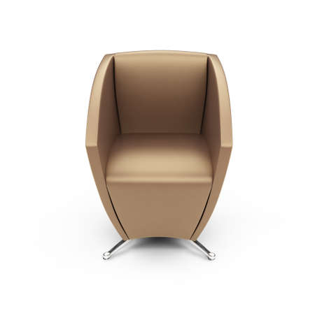 isolated modern chair against white backgorund photo
