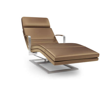 chaise: Isolated chaise lounge against white background Stock Photo