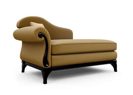 against white: isolated sofa against white background Stock Photo