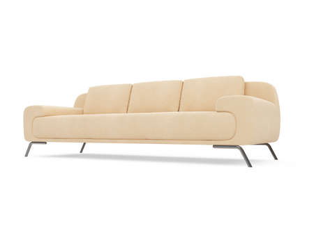 isolated couch over white background Stock Photo - 4684312