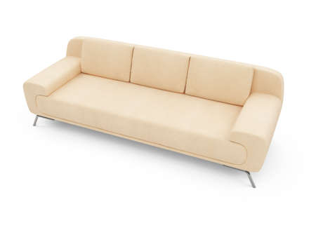 isolated couch over white background Stock Photo - 4684274