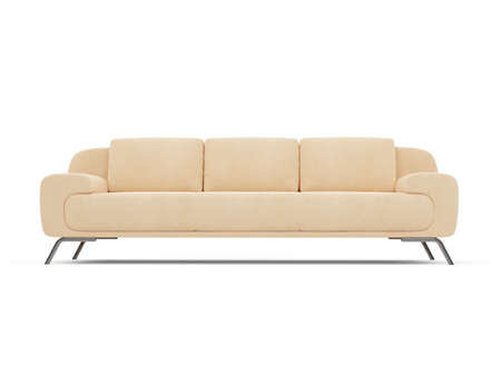 isolated couch over white background Stock Photo - 4684281