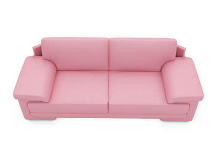 isolated couch over white background Stock Photo - 4684302