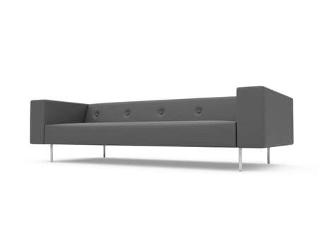 isolated couch over white background Stock Photo - 4684304