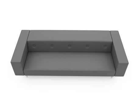isolated couch over white background Stock Photo - 4684301