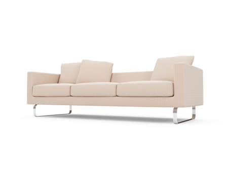 isolated couch over white background Stock Photo - 4684311