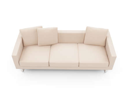 isolated couch over white background Stock Photo - 4684265