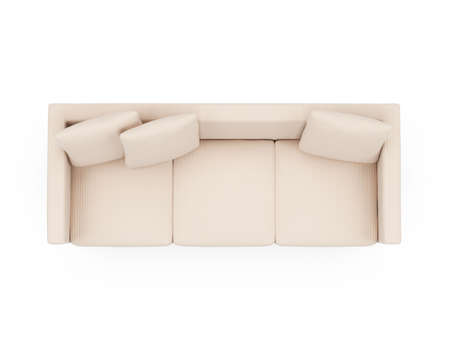 isolated couch over white background Stock Photo - 4684270