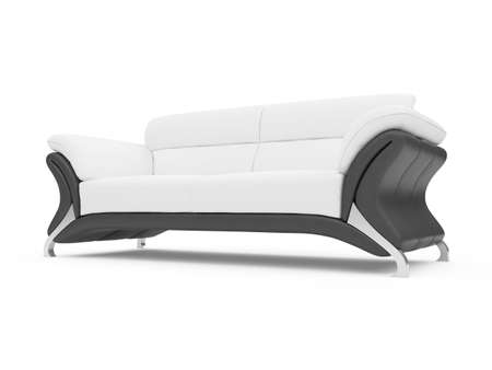 isolated couch over white background Stock Photo - 4684285