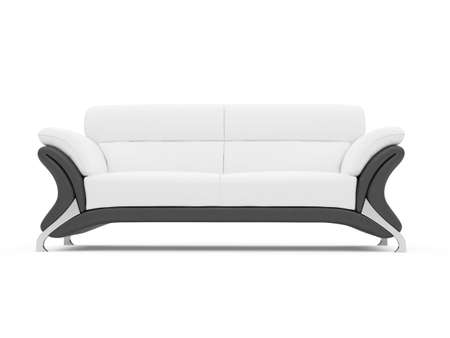 isolated couch over white background photo