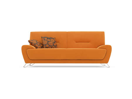 divan: isolated couch over white background