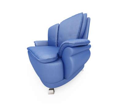 isolated blue sofa over white background Stock Photo - 5013722
