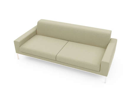 isolated modern sofa over white background Stock Photo - 5042068