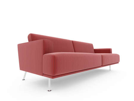 isolated modern sofa over white background Stock Photo - 5042055