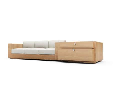 isolated modern sofa over white background Stock Photo - 5042132