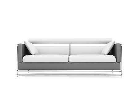 isolated modern sofa over white background photo