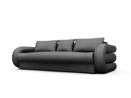 isolated modern sofa over white background photo