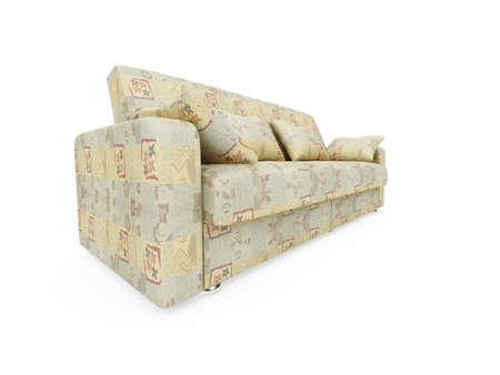 isolated modern sofa over white background Stock Photo - 5117722