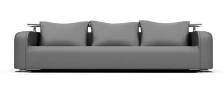 isolated modern sofa over white background Stock Photo - 5117724