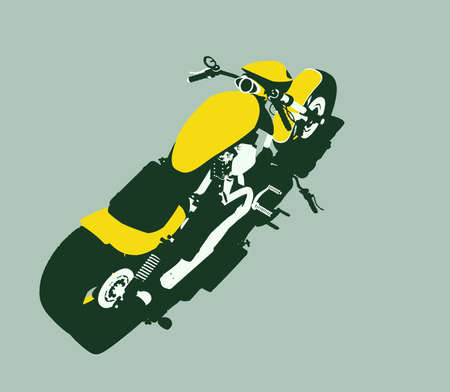 isolated vector bike Stock Photo